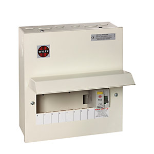 Wylex 8 Way RCD Comsumer Unit with 100A RCD