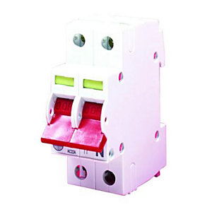 Wylex Main Switch Double Pole Isolator - 100A