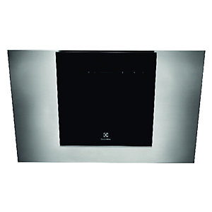 Electrolux Designer Square Chimney Black Glass Cooker Hood 800mm EFF8068OBX