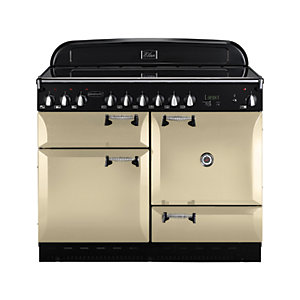 Rangemaster Elan 110 Ceramic Cooker - Cream with Chrome Trim