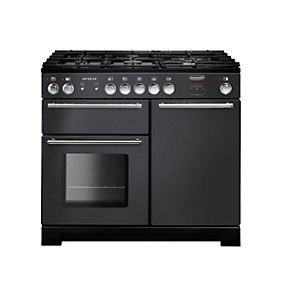 Rangemaster Infusion 100 Dual Fuel Range Cooker - Slate with Chrome Trim