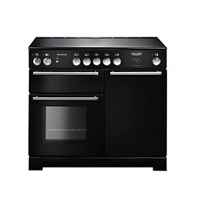 Rangemaster Infusion 100 Induction Range Cooker - Black with Chrome Trim