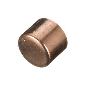 Wickes End Feed Stop End Cap - 15mm Pack of 2