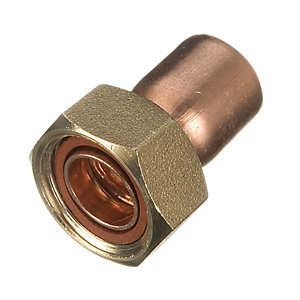 Wickes End Feed Straight Tap Connector - 15mm Pack of 2