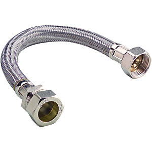 Wickes Flexible Tap Connector - 15 x 19 x 500mm