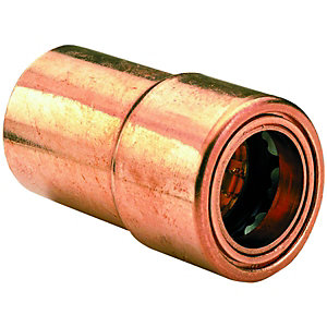 Wickes Copper Push Fit Reducer - 22 x 15mm
