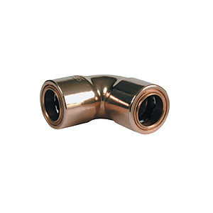 Wickes Copper Pushfit Elbow - 10mm