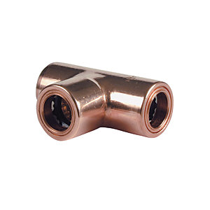 Wickes Copper Pushfit Equal Tee - 10mm
