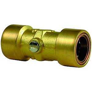 Wickes Copper Pushfit Service Valve - 15mm Pack of 2