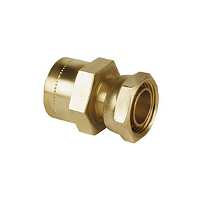 Wickes Copper Pushfit Tap Connector - 1/2in x 15mm