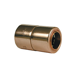Wickes Push Fit Copper Coupling - 10mm