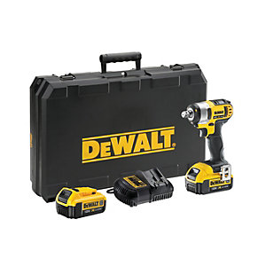 DEWALT 18V DCF880M2-GB XR Cordless Compact Impact Wrench With 2 X 4.0AH Batteries Charger & Kit Box
