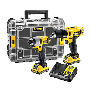 DEWALT DCK211D2T 10.8V 2 x 2.0Ah XR Cordless Drill and Impact Driver Twin Pack