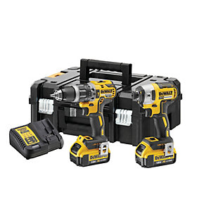 DeWalt DCK266M2T 18V 2 x 4.0Ah XR Cordless Hammer Drill and Impact Driver Twin Pack