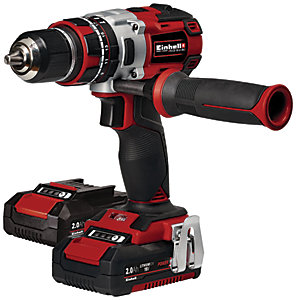 Einhell Power X-Change TE-CD 18 Li-i BL 18V Cordless 2 x 2.0AH Brushless Combi Drill