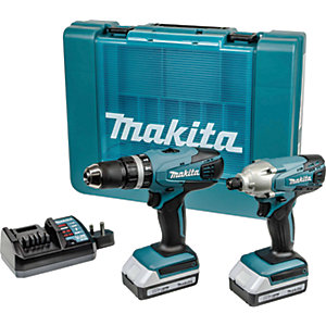 Makita DK18015X1 18V Li-ion G-Series Combi Drill & Impact Driver Kit