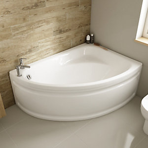 Wickes Palma Right Hand Corner Bath - 1495mm