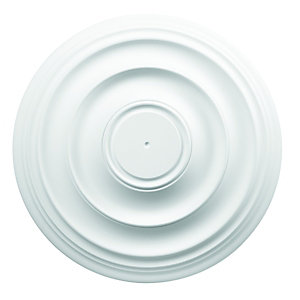 Wickes White Polyurethane Plain Ceiling Rose - 400mm
