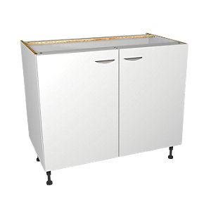 Wickes Dakota White Matt Slab Base Unit - 1000mm