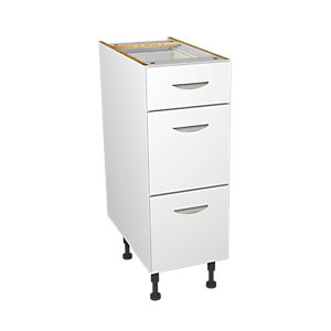 Wickes Dakota White Matt Slab Drawer Unit - 300mm
