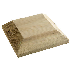 Wickes Deck Post Flat Cap - Green 128 x 128 x 44mm