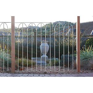 Wickes Arch Top Large Metal Deck Panel - Silver 91mm x 1.13m