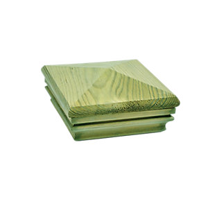 Wickes Deck Post Pyramid Slipover Cap - Green 135 x 135 x 62mm