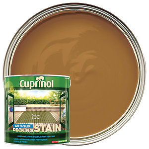 Cuprinol Anti-Slip Decking Stain - Golden Maple 2.5L