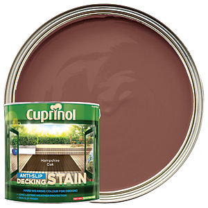 Cuprinol Anti-Slip Decking Stain - Hampshire Oak 2.5L