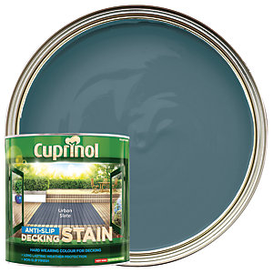 Cuprinol Anti-Slip Decking Stain - Urban Slate 2.5L