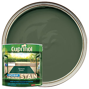 Cuprinol Anti-Slip Decking Stain - Vermont Green 2.5L