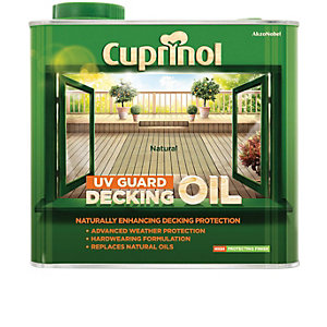 Cuprinol UV Guard Decking Oil - Natural 2.5L