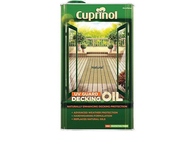 Cuprinol UV Guard Decking Oil - Natural 5L