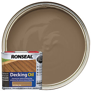 Ronseal Decking Oil - Natural Oak 2.5L