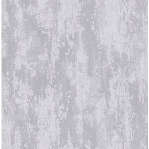 Boutique Industrial Texture Silver Decorative Wallpaper - 10m