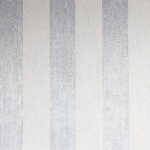 Boutique Water Silk Stripe Silver Decorative Wallpaper - 10m