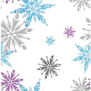 Disney Frozen Snowflake Multicoloured Decorative Wallpaper - 10m