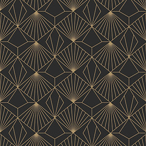 Sublime Diamond Wallpaper Black - 10m