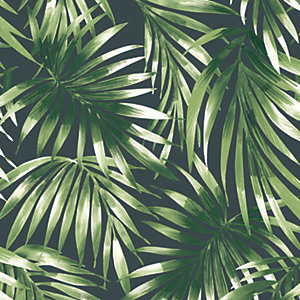 Superfresco Easy Elegant Leaves Wallpaper Green - 10m