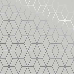 Superfresco Easy Prism Wallpaper White - 10m