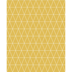 Superfresco Easy Triangolin Mustard Yellow Geometric Design Wallpaper - 10m