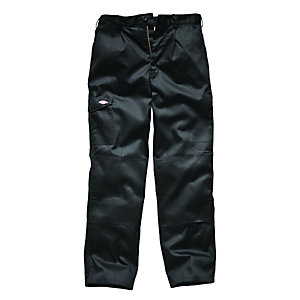Dickies Redhawk Super Work Trousers Black Reg Leg