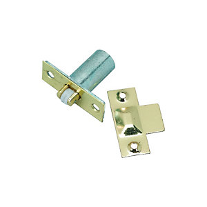 Wickes Adjustable Roller Door Catch - Brass