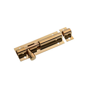 Wickes Barrel Bolt - Brass 76mm