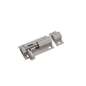 Wickes Barrel Bolt - Satin Aluminium 50mm