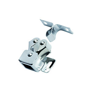 Wickes Double Roller Catch - Chrome