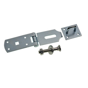 Wickes Heavy Duty Door Hasp & Staple - Galvanised 203mm