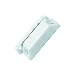 Wickes Magnetic Cupboard Catch  Large - White