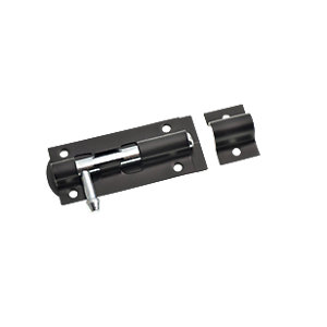 Wickes Tower Bolt - Black 76mm