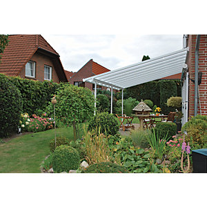 Palram Feria Polycarbonate Patio Canopy White - 6060 x 3870 mm  sc 1 st  Wickes & Door Canopies | External Doors | Wickes.co.uk
